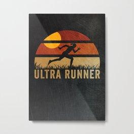 Ultra Marathon Runner Gift Metal Print
