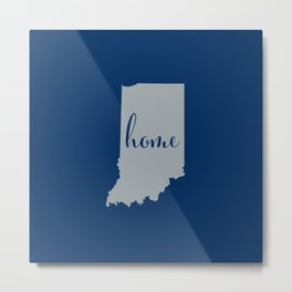 Indiana is Home - Go Colts Metal Print