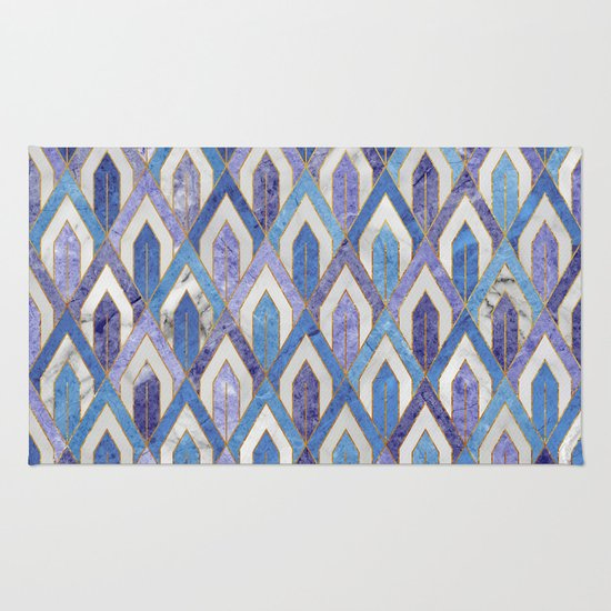 art deco marble pattern iii rug by santo sagese society6