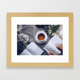 Coffee, Flowers & Poetry For Me, Please Framed Art Print