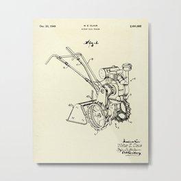 Rotary Soil Tiller-1949 Metal Print