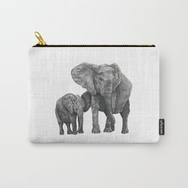 African Elephant and Calf Carry-All Pouch