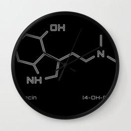Psilocin Molecule - grey design Wall Clock