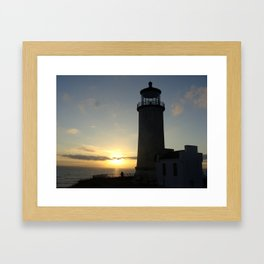 Lighthouse photo, Cape Disappointment Framed Art Print