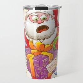 A Christmas Gift from Halloween Creepies to Santa Travel Mug
