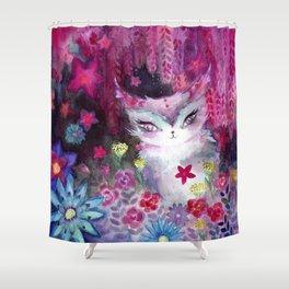 Gala Cat Tending the Garden Shower Curtain