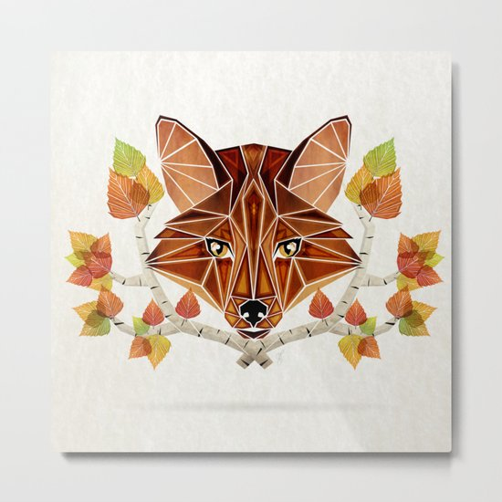 fox autumn Metal Print