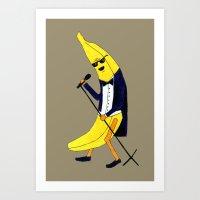banana Art Prints featuring Banana by Anna Shell