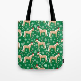 Palomino Horse Christmas - peppermint, candy cane, snowflake, christmas, green and red, santa Tote Bag