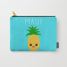 Maui Pineapple (blue) Carry-All Pouch