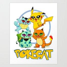 Pokecat Art Print