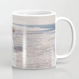 Ocean Beach, San Francisco Photography, From Above Art, Surfers, Pacific Ocean, California Art Coffee Mug