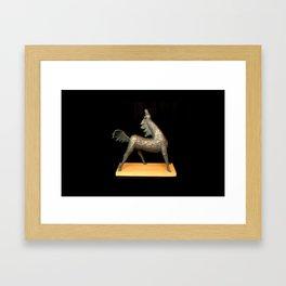 Exuberant Colt (Sculpture by Eva Hoedeman) Framed Art Print