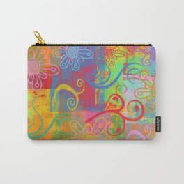 Grunge Swirls, Flowers and textures Carry-All Pouch