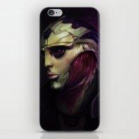 mass effect iPhone & iPod Skins featuring Mass Effect: Thane Krios by Ruthie Hammerschlag
