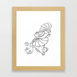 Ninja Fan Framed Art Print