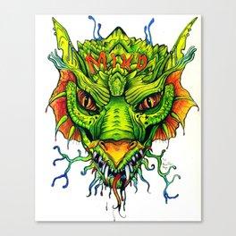 Green Mind Monster Canvas Print