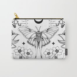 Bohemian Luna Moth On White Carry-All Pouch