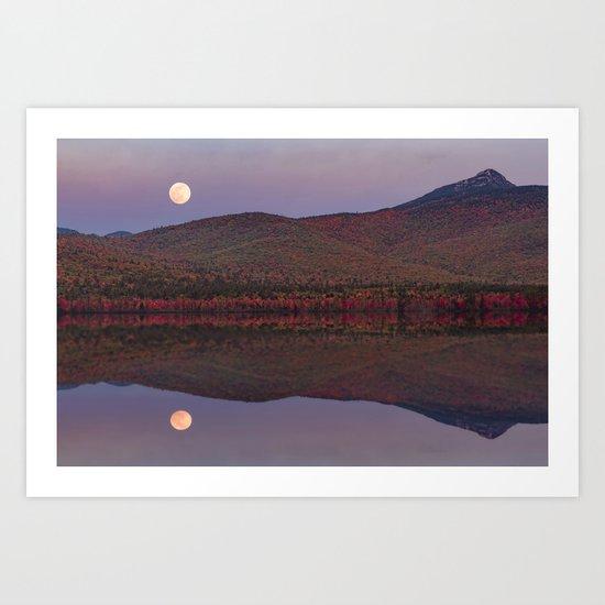 Autumn Mountain Moonrise Art Print