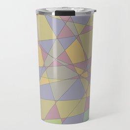 Shattered Yellow & Purple Travel Mug