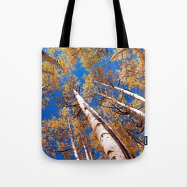 Aspen Trees Against The Sky In Crested Butte, Colorado Tote Bag