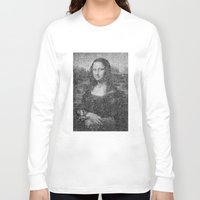 mona lisa Long Sleeve T-shirts featuring Mona Lisa by The Invisible Shop