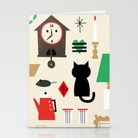 home sweet home Stationery Cards featuring Home by Charmy