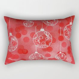 Christmas Balls in Silver Rectangular Pillow