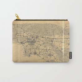 Map of Los Angeles and the San Gabriel Mountains (1915) Carry-All Pouch