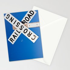 Railroad crossings Stationery Cards