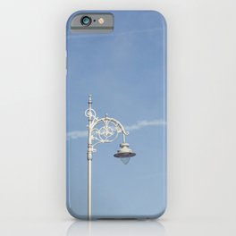 Lamp with blue sky iPhone Case