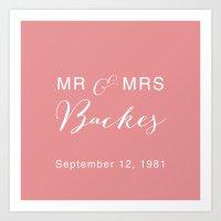 Mr and Mrs Backes Art Print