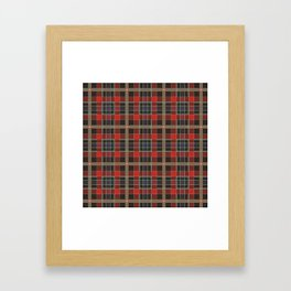 Red hipster plaid Framed Art Print