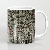 letters Mugs featuring Letters by Sébastien BOUVIER