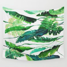 tropical compilation horiz. Wall Tapestry