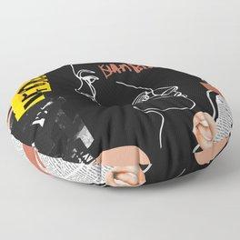 Grunge Portrait Collage Floor Pillow
