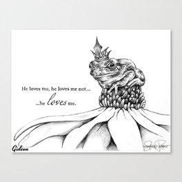 GIDEON Frog Prince Print Canvas Print