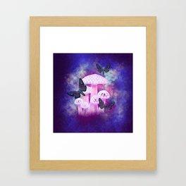 Twilight Moths Framed Art Print