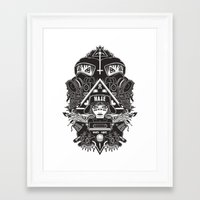 gore Framed Art Prints featuring hard gore by Andrea Moresco
