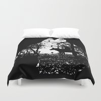 princess mononoke Duvet Covers featuring Mononoke Forest by kamonkey