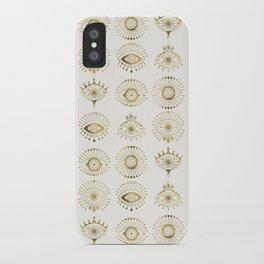 Evil Eyes – Gold Palette iPhone Case