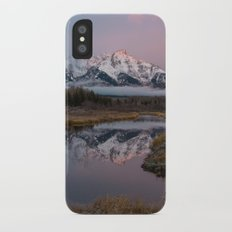 Snowy Pink Sunrise in the Tetons iPhone X Slim Case