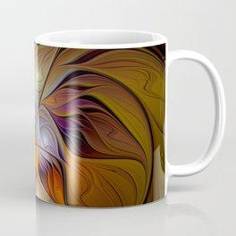 Autumn Flower, Colorful Abstract Fractal Art Coffee Mug