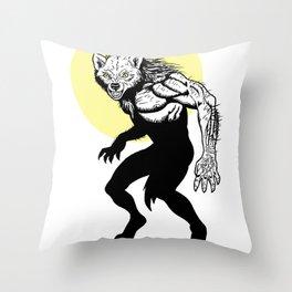 Loup-garou Homme Throw Pillow