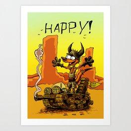 HAPPY! Art Print