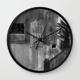 Late night visit Wall Clock
