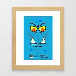 Bitey Blue Magoo - Monstar Framed Art Print