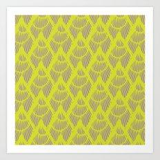 Lapices-Olive Art Print