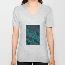 """Creative Womb"" by ICA PAVON Unisex V-Neck"