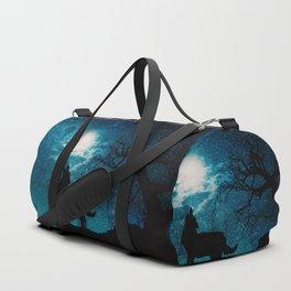 howling at the moon Duffle Bag